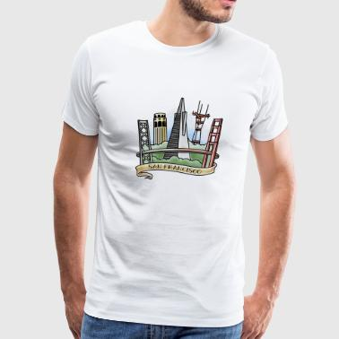 San Francisco Skyline 1 - Men's Premium T-Shirt