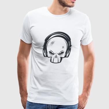 3d Punk Rock Skull - Men's Premium T-Shirt