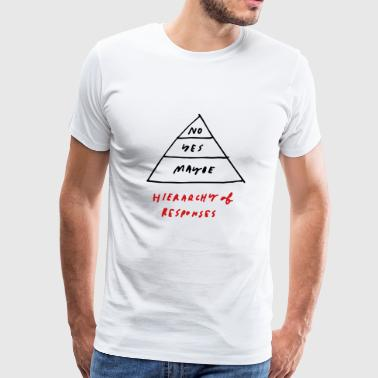 No, Yes, Maybe - Hierarchy of Responses - Men's Premium T-Shirt