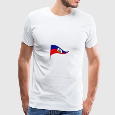 Haiti Port au Price Caribbean Flags Banner Ensign - Men's Premium T-Shirt