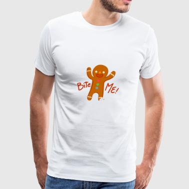 Gingerbread Man Ginger Christmas Bread Gift Sweet - Men's Premium T-Shirt