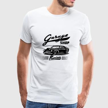 GIFT - GARAGE SHOP BLACK - Men's Premium T-Shirt