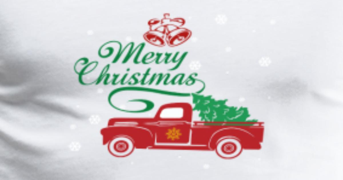 Vintage Red Truck Christmas Decor.Red Truck Christmas Tree Vintage Red Pickup Truck Men S Premium T Shirt Spreadshirt