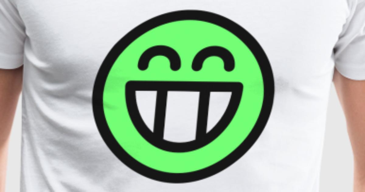 Grin Smiley Face Emoticon Icon Symbol Happy Gift By Spreadshirt