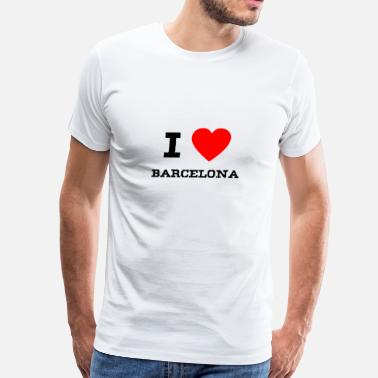 I Love Barcelona i love Barcelona - Men's Premium T-Shirt