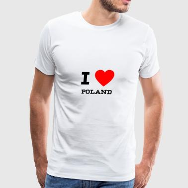 I Love Poland i love Poland - Men's Premium T-Shirt