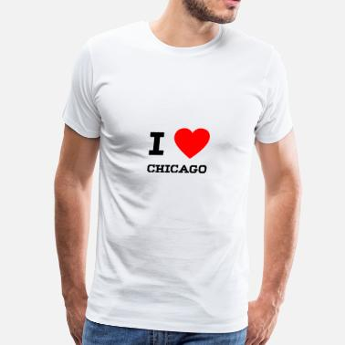 I Love Chicago i love Chicago - Men's Premium T-Shirt