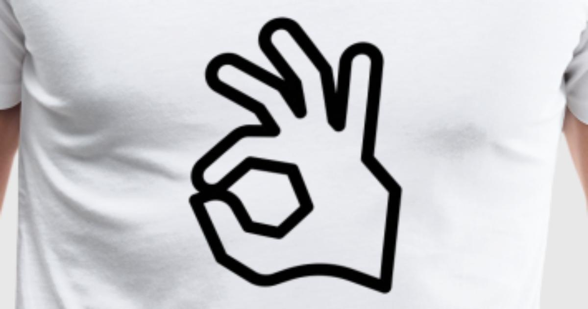 ok hand sign holes by spreadshirt