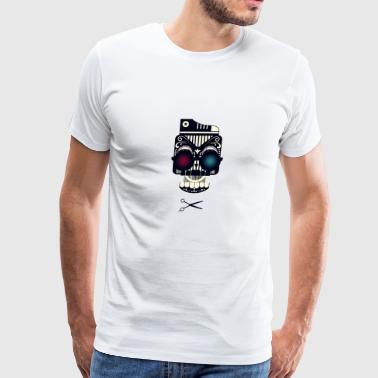 Skull with shoe glass and scissors dope - Men's Premium T-Shirt