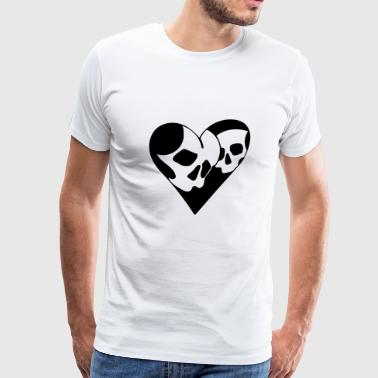 Heart and skull - Men's Premium T-Shirt