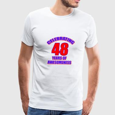 48th birthday design - Men's Premium T-Shirt