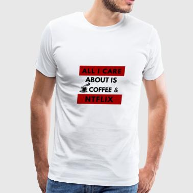 Coffee and streaming - Men's Premium T-Shirt