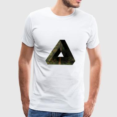 Penrose Triangle Design - Men's Premium T-Shirt