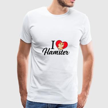 I Love Hamster - Men's Premium T-Shirt