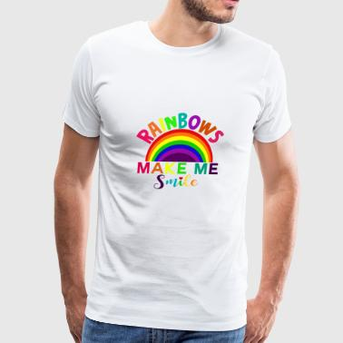 rainbows make me smile - Men's Premium T-Shirt