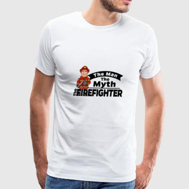 Proud Firefighter - The Man The Myth - Men's Premium T-Shirt
