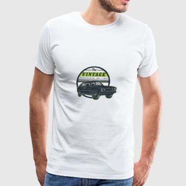 Retro Car Show - Men's Premium T-Shirt