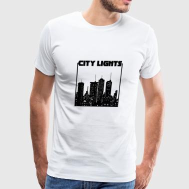 City Lights Skyline New York City Metropole - Men's Premium T-Shirt