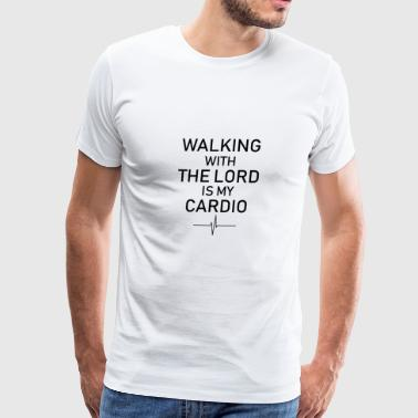 The Son Of God Walking God Jogging Cardio Faith church worship - Men's Premium T-Shirt