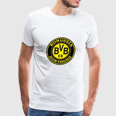 borussia-dortmund-logo-wallpaper - Men's Premium T-Shirt