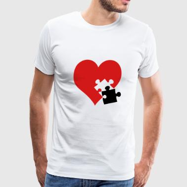 lovesickness / red heart - Men's Premium T-Shirt