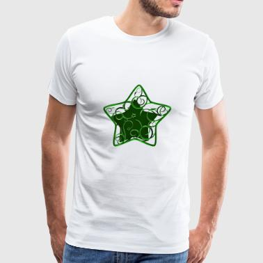 Star ornamental green - Men's Premium T-Shirt