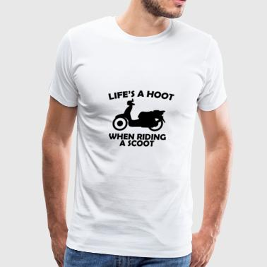 hoot scoot - Men's Premium T-Shirt
