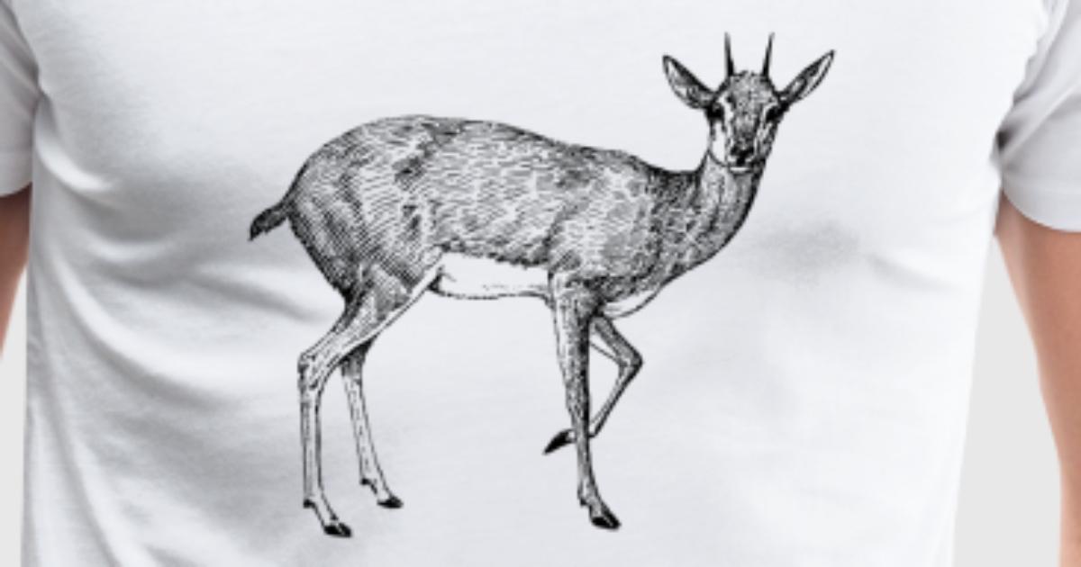 steenbok steinbock reh deer stag hirsch reindeer t shirt spreadshirt. Black Bedroom Furniture Sets. Home Design Ideas