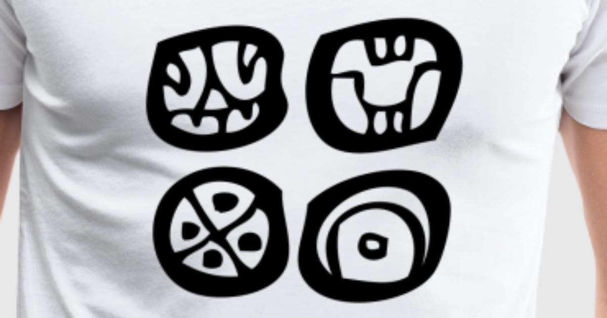 Four Maya Symbols Mayan Script Mayan Glyphs By Nakoa Spreadshirt
