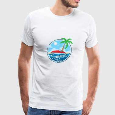 summer vibe island holiday Gross - Men's Premium T-Shirt