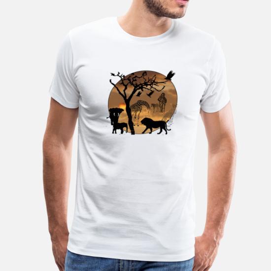 f7b39633 Safari African Jungle Wild Animals t-shirts Men's Premium T-Shirt ...