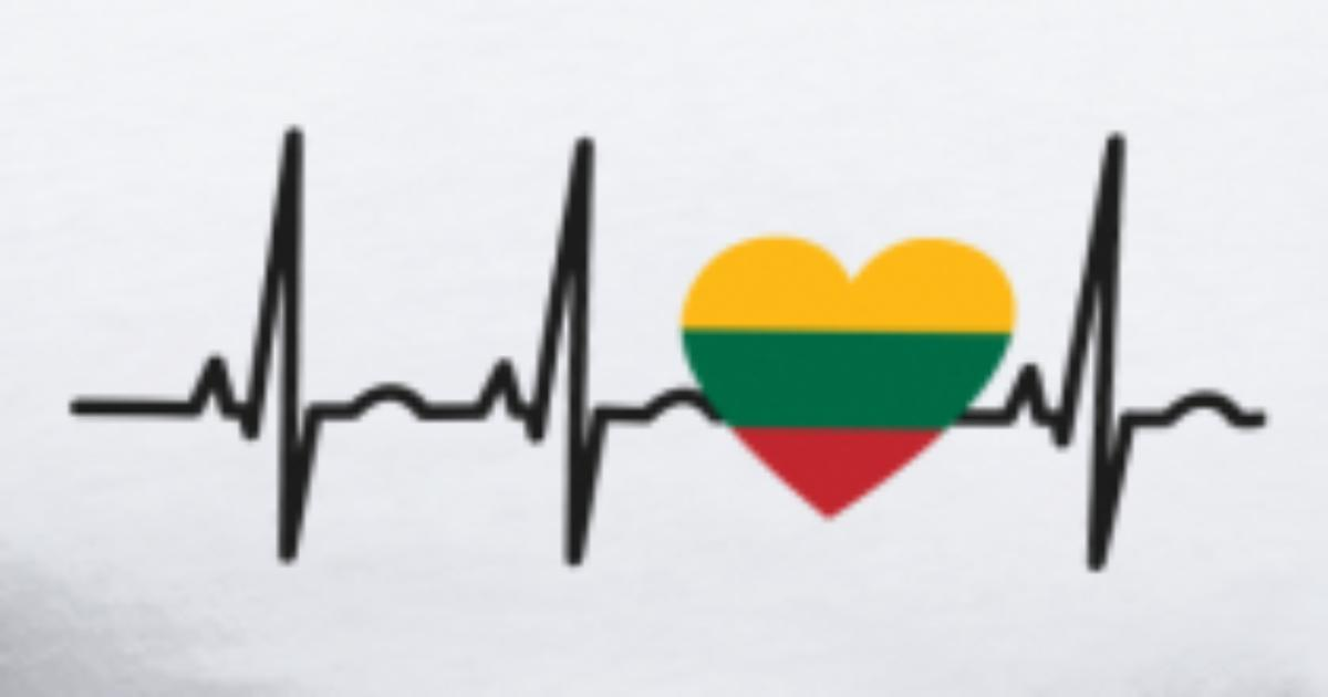 Heartbeat Line Art : I love ekg heartbeat litauen lithuania by mister n us spreadshirt