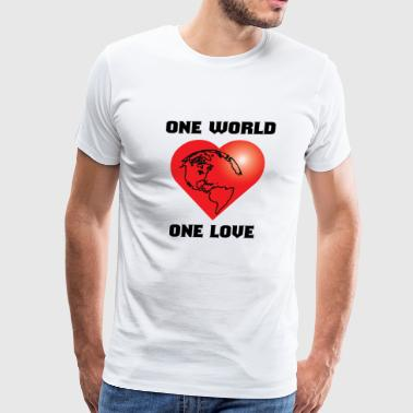 one world one love - Men's Premium T-Shirt