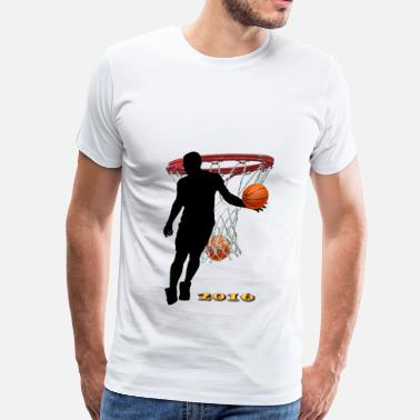 Shadow Shadow Playing Basketball - Men's Premium T-Shirt