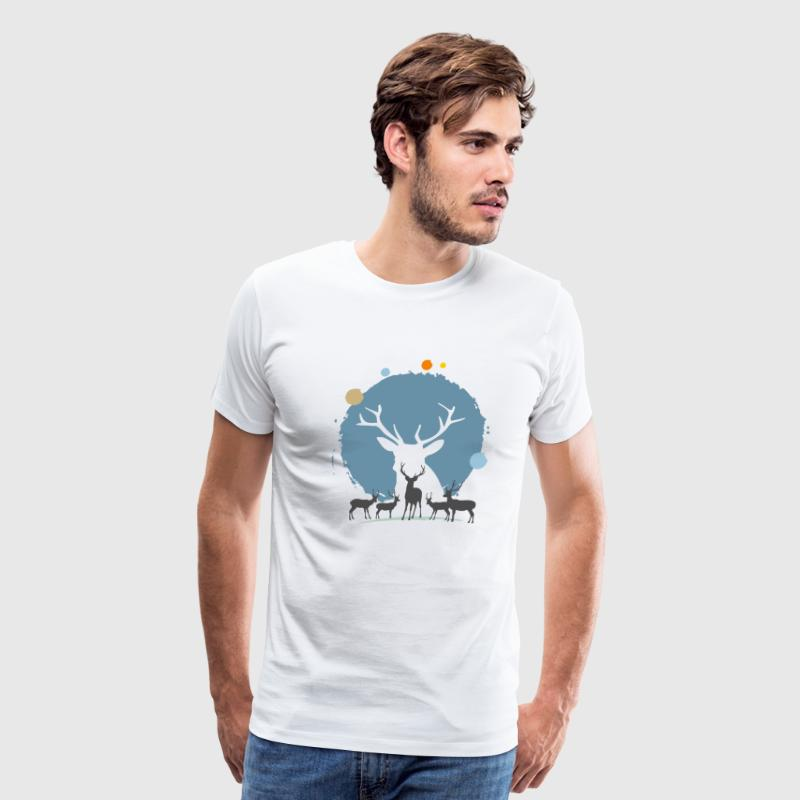 reindeer christmas - Men's Premium T-Shirt
