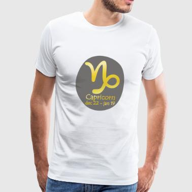 Capricorn Horoscope Capricorn Horoscope - Men's Premium T-Shirt