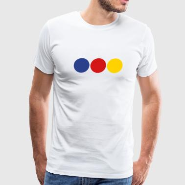 Painting Company District 3 - primary colors - Men's Premium T-Shirt