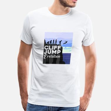 Cliff Diving Cliff Jumping Evolution T-Shirt - Men's Premium T-Shirt