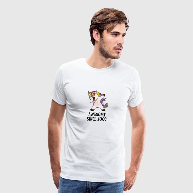 Awesome Since 2009 Dabbing Unicorn 9. Gift - Men's Premium T-Shirt