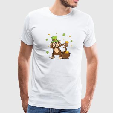 Funny St Patricks Day Leprechaun Party gift Paddy - Men's Premium T-Shirt