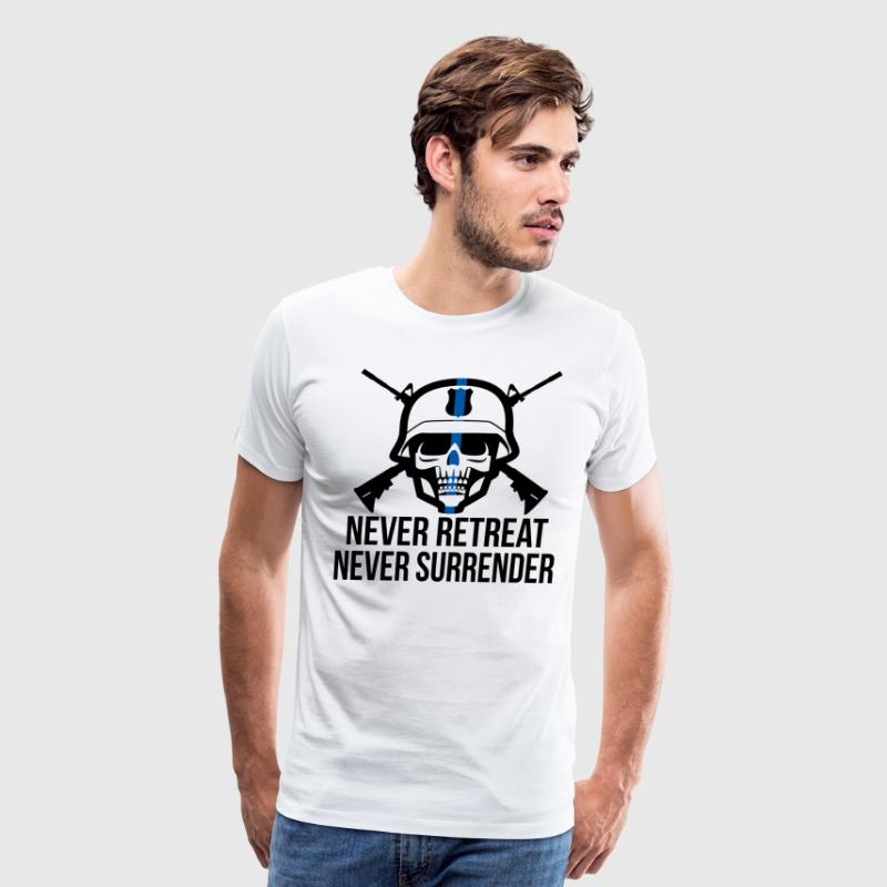 Never Retreat, Never Surrender - Men's Premium T-Shirt