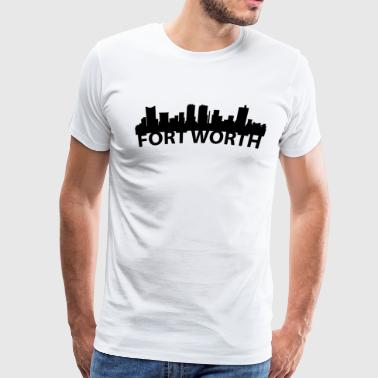 Arc Skyline Of Fort Worth TX - Men's Premium T-Shirt