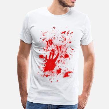 Blood Stained Splashes of blood / blood Smeared - Men's Premium T-Shirt