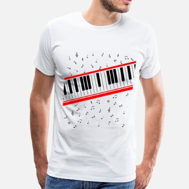 Keyboard Beat It Piano Keyboard - Men's Premium T-Shirt