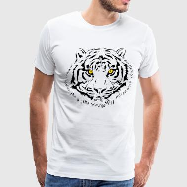 Tiger Eyes Tiger - Piercing Eyes - Men's Premium T-Shirt