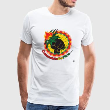 Cannabis On Fire Make it Legal! 420 Wear - Men's Premium T-Shirt