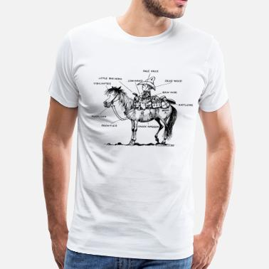 Thelwell Thelwell Learning Western Riding - Men's Premium T-Shirt