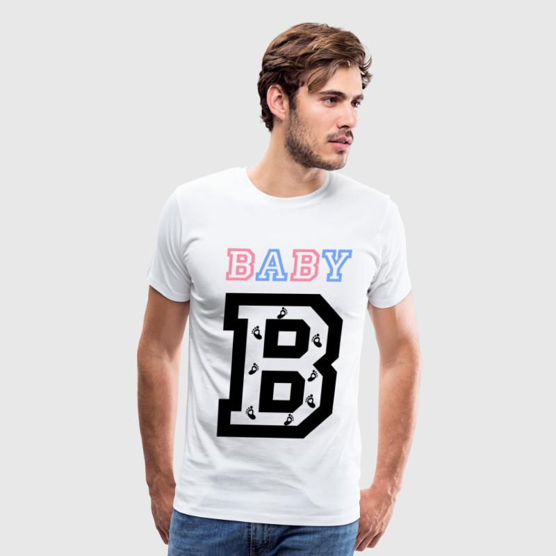Twins- baby gender reveal for baby B - Men's Premium T-Shirt