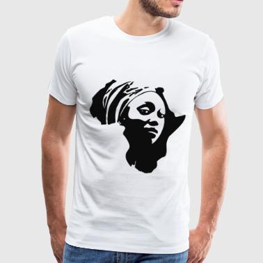 Mama African Continent Melanin mom t Shirts - Men's Premium T-Shirt