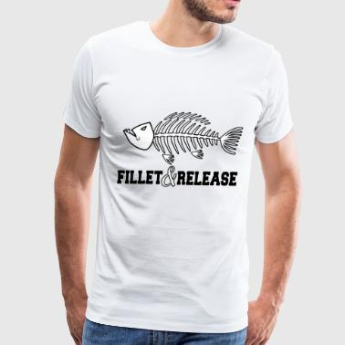 Fillet And Release Fish Bones Fish Fisherman - Men's Premium T-Shirt